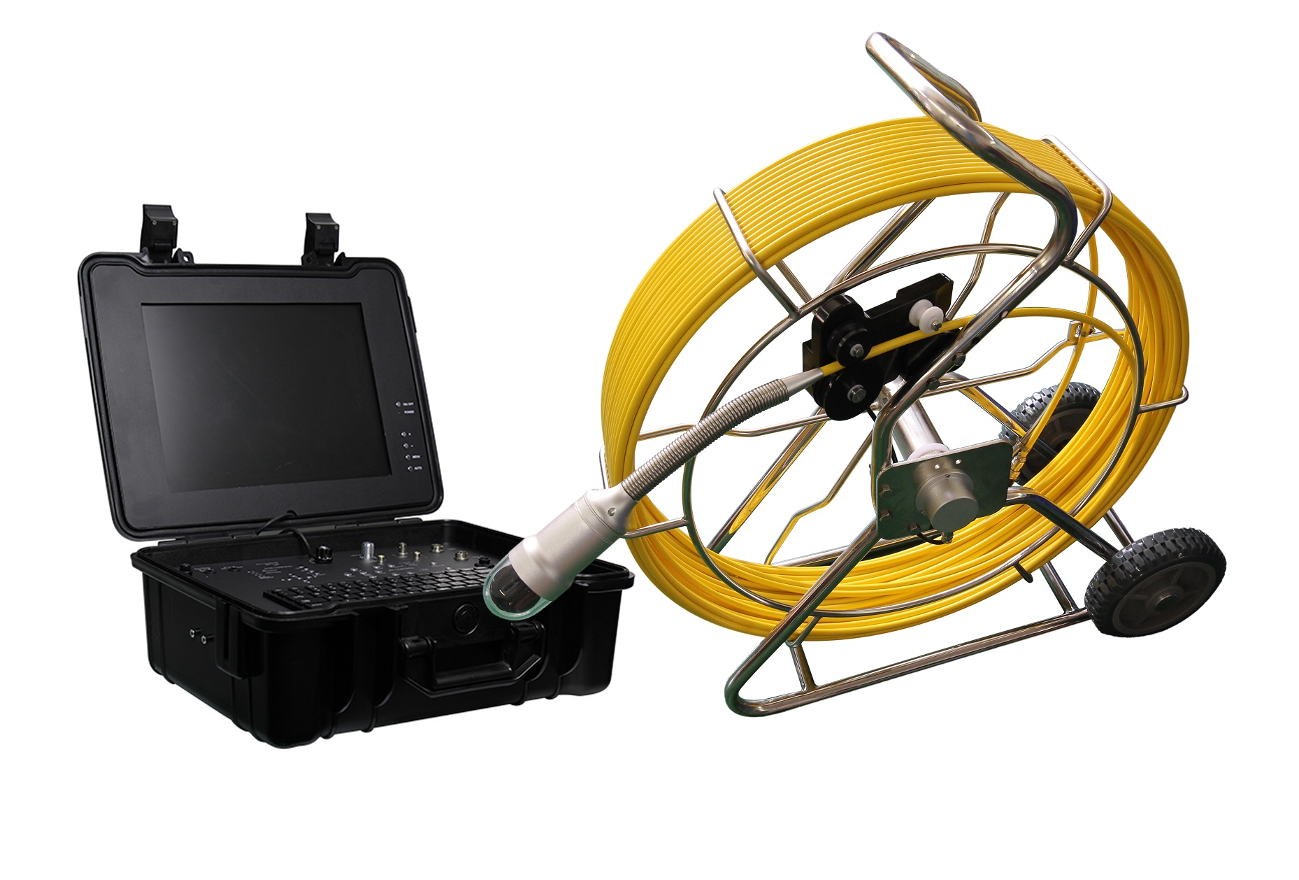 WOPSON 360 rotation pipe sewer inspection camera with DVR and locator