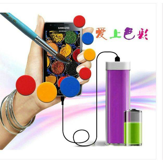2000mAh Lip Stick Shaded Power Bank for Ladies (WY-PB05)