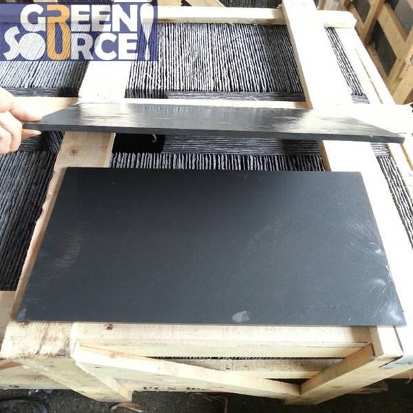 New black slate natural stone slabs roof tile