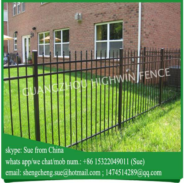 Luxembourg Black color steel pipe philippines gates and metal fencing