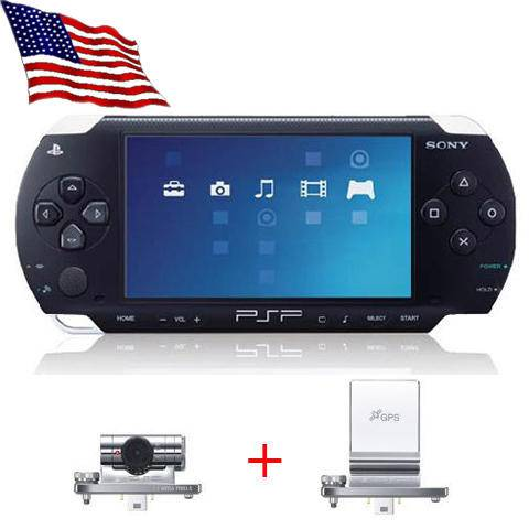 Black Sony PSP + GPS + Camera +6GB Card +10 Super Games