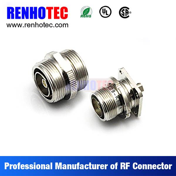 7/16 Din Female Crimp 4 Hole Flange Cable RF Electrical Coaxial 7/16 Connectors