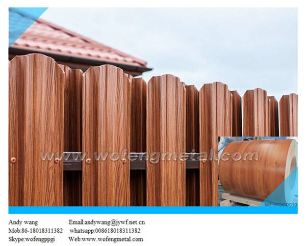 Cold rolled prime grade wooden pattern prepainted steel sheet