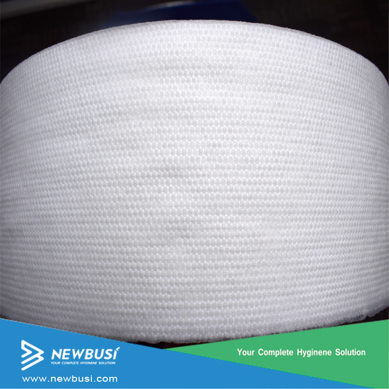 nonwoven fabric material for making baby diaper and sanitary napkin