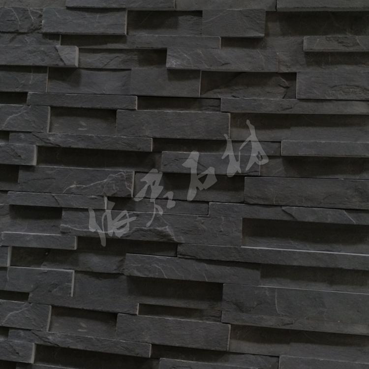 YIJUN STONE/ Natural stone/ Cultured stone/ wall stone/ black slate fireplace stone