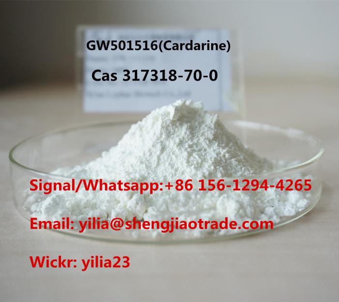 Pure 99% SARMS Raw Powder GW501516 GW-501516 Cardarine powder cas 317318-70-0 for sale Wickr:yilia23