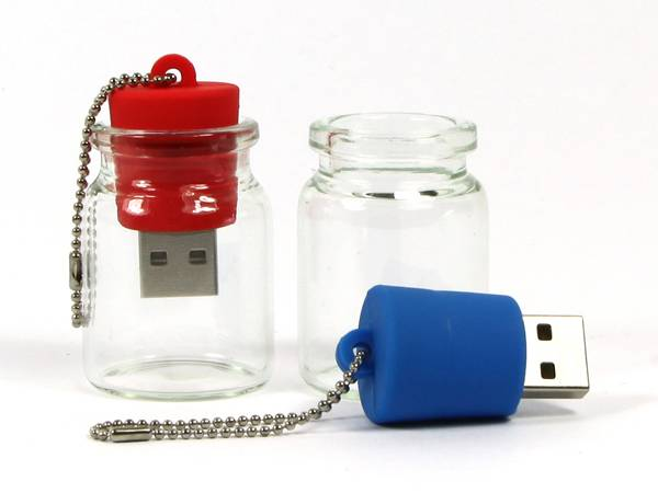 Wish Bottle USB Flash Drives Customized Logo For Promotions