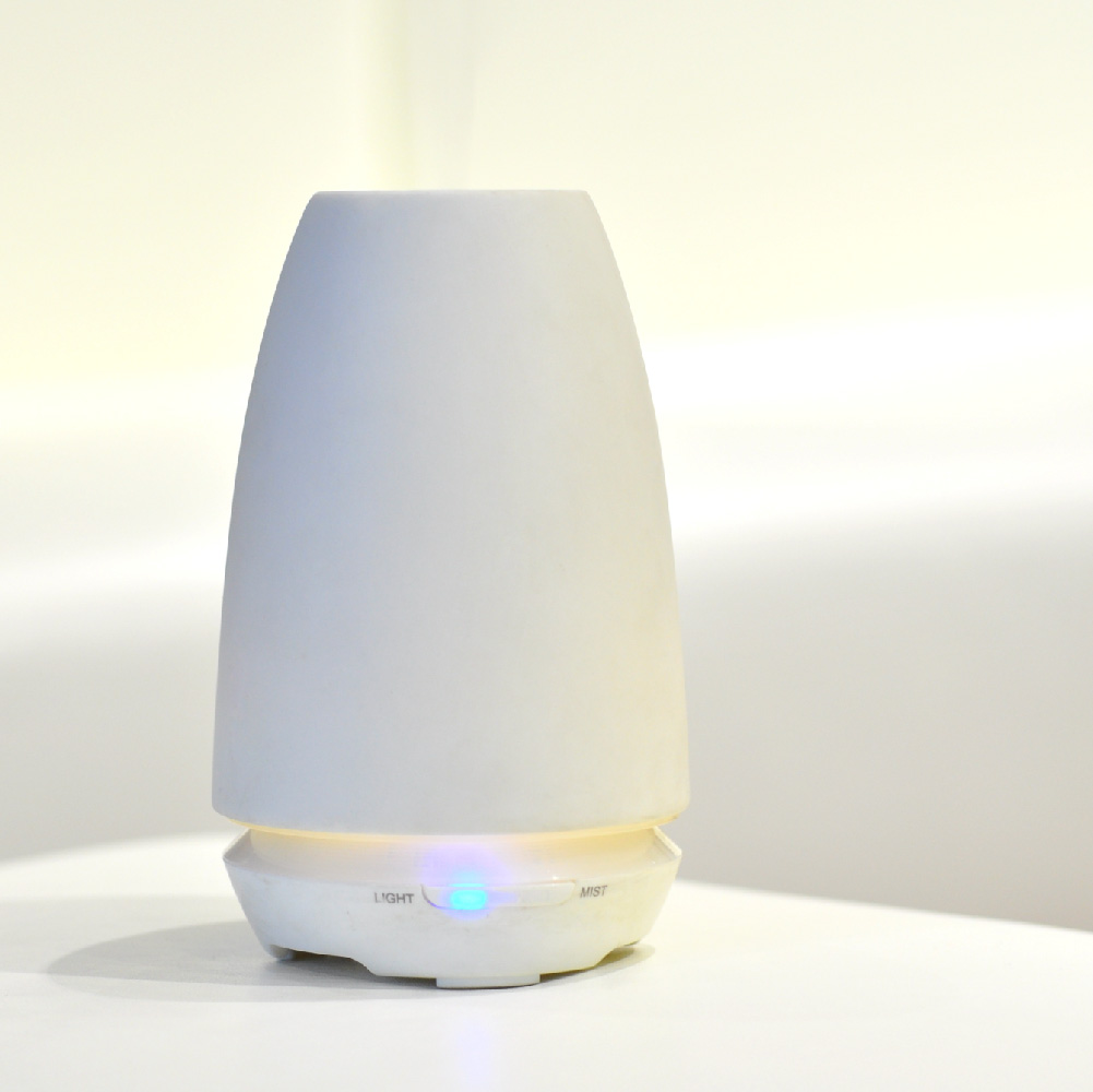 handmade ceramic cover yellow light aromatherapy ultrasonic aroma diffuser humidifier for home