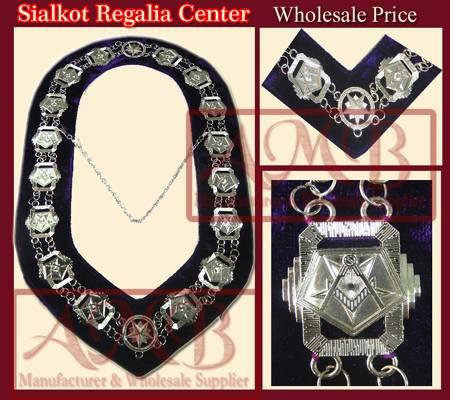 Masonic chain collar rhinestone