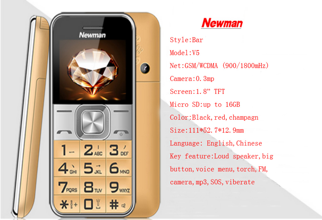 Factory price 1.8-inch senior feature mobile phone with dual SIM