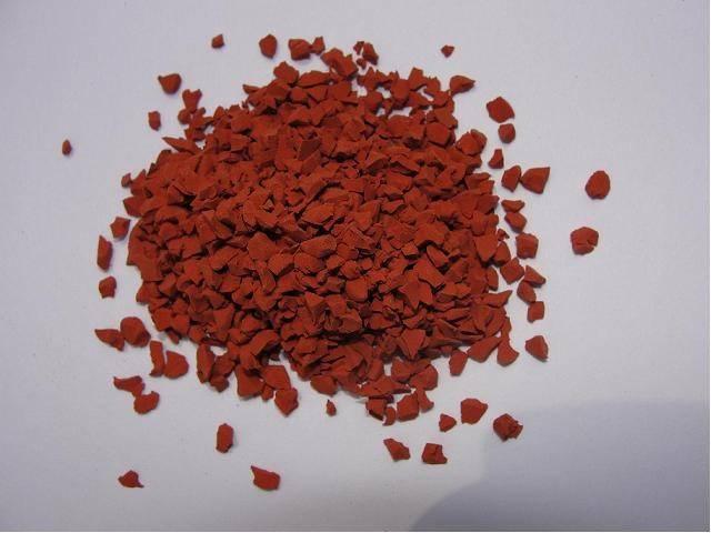 PT120 red color EPDM rubber granules
