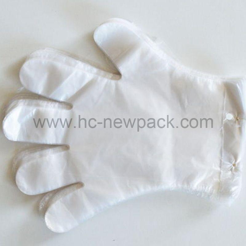 PE glove disposable transparent hdpe glove plastic polyethylene gloves