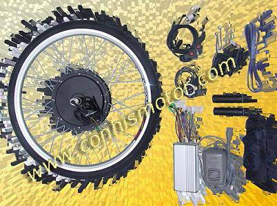 Electric bicycle conversion system with brushless motor