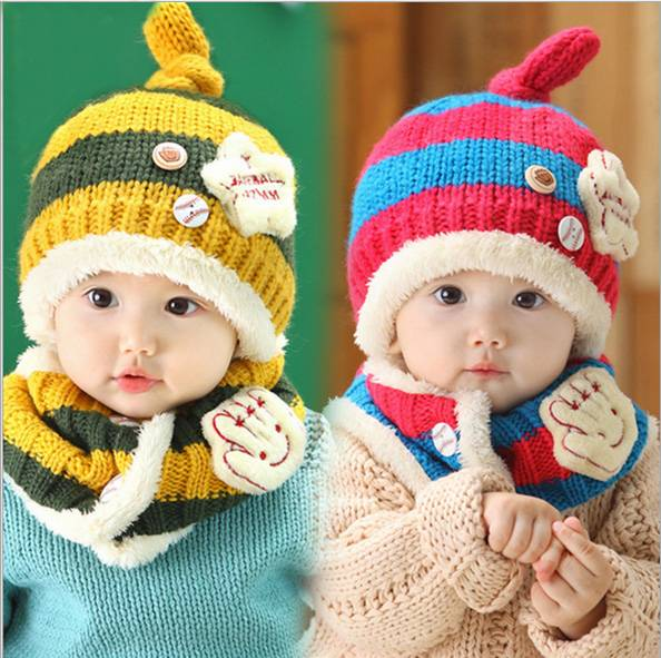Soft Warm Winter Knitted Beanie Hat for Cute Children
