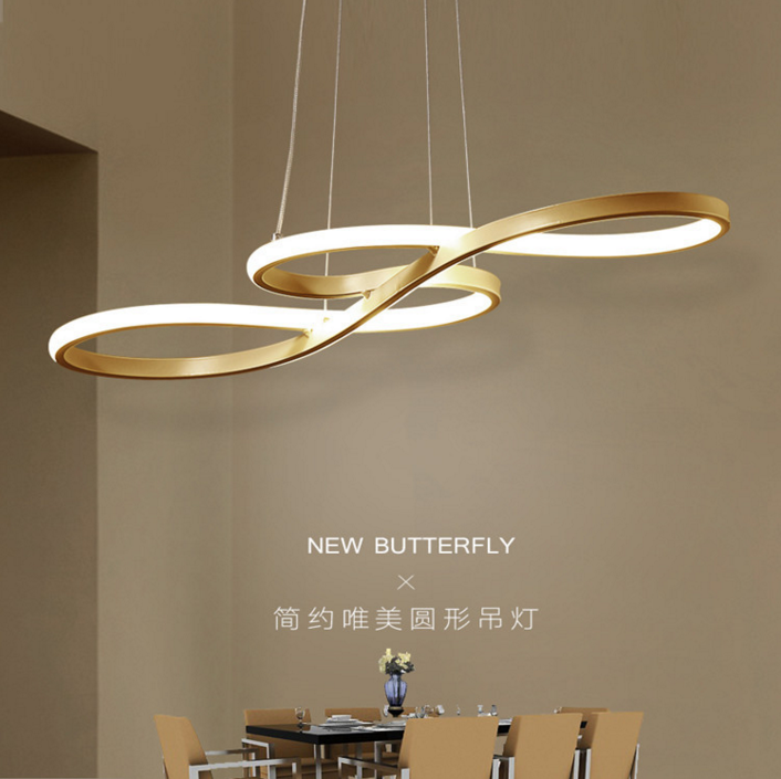 Led chandelier simple modern creative dining room lamp modern dining room lamp bar bedroom living