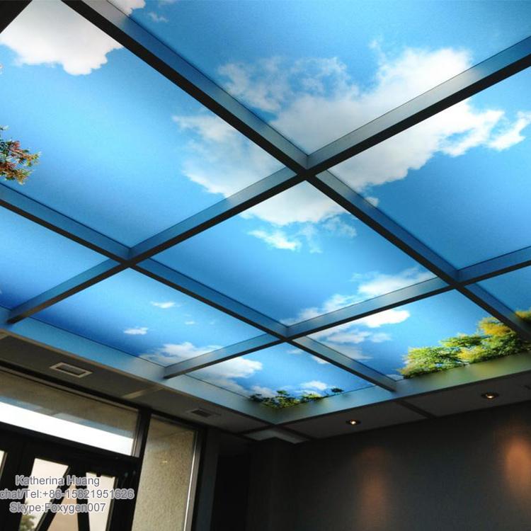 Blue sky pvc stretch ceiling film decorative pvc stretch ceiling film