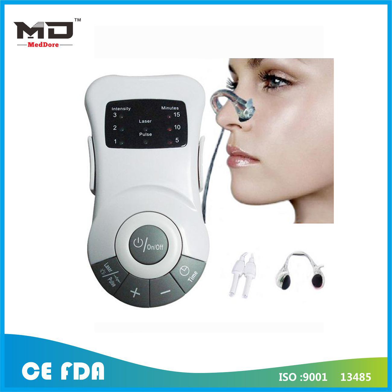 Meddore Portable Gift Allergy Reliever Low Frequency Laser Rhinitis Rhinitis Machine Health M
