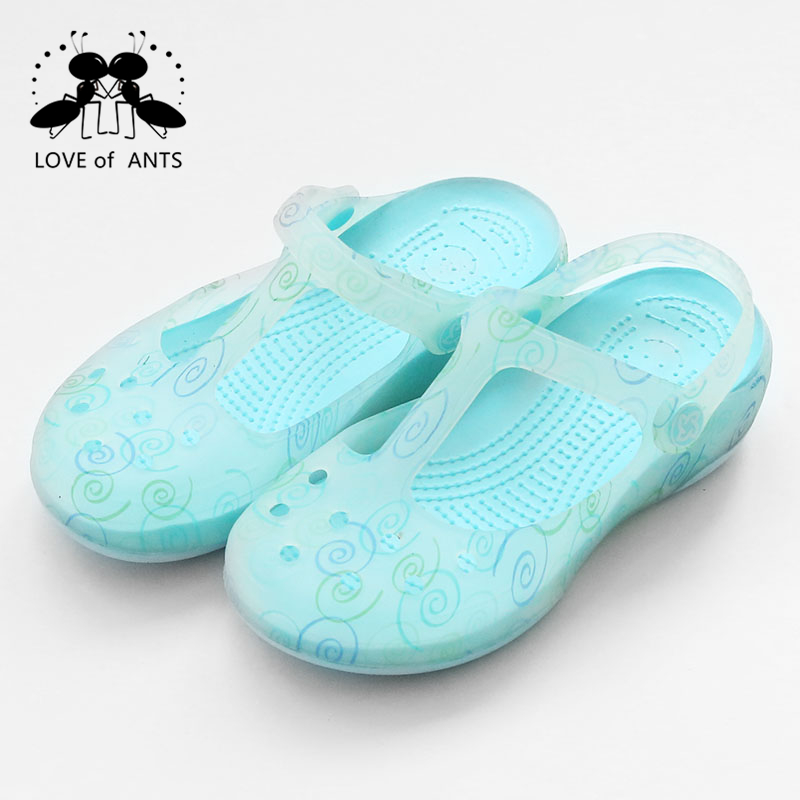 Latest light blue outdoor green friendly new eva slipper