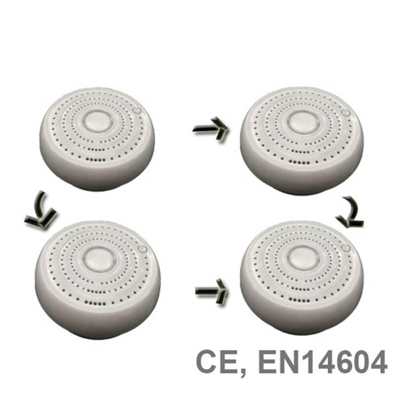 house kitchen wireless interlinked smoke alarms optical smoke alarm