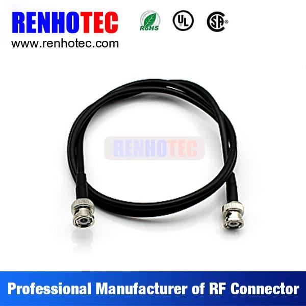 Made in China Double BNC Jack Electrical Coaxial Wire Connectors Custom Cable Assembly for RG6