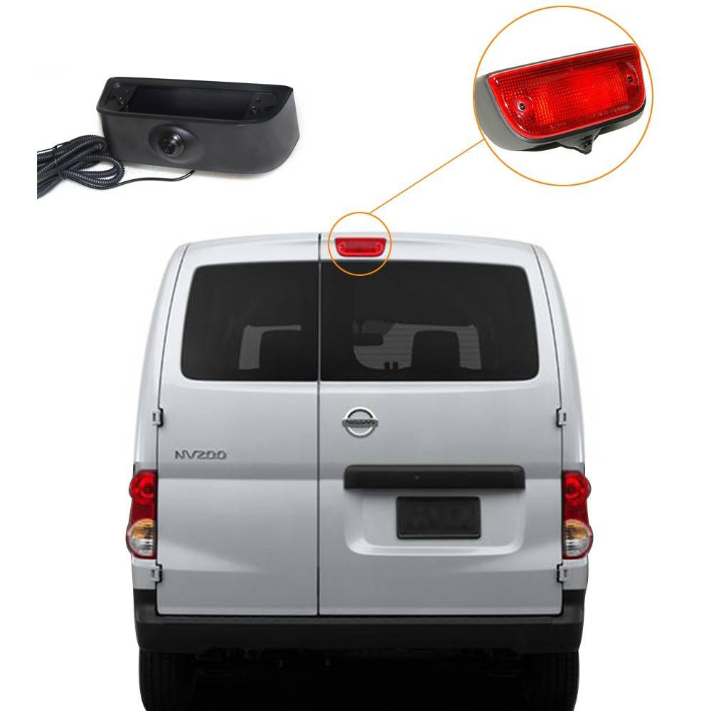 Vardsafe Backup Rear View 3rd Brake Light Camera For Nissan NV200 and Chevrolet City Express