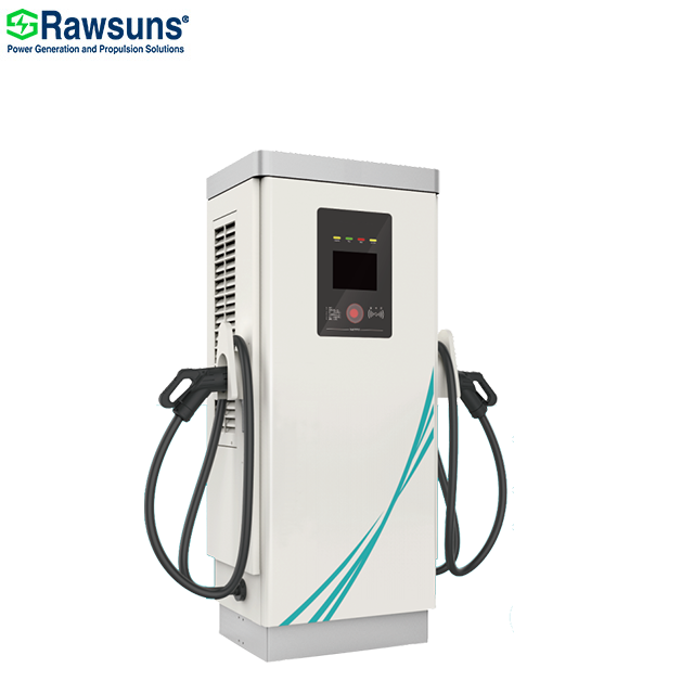80kw 2 guns car battery charger GB/T NB/T standard dc fast charging stand station for public EV