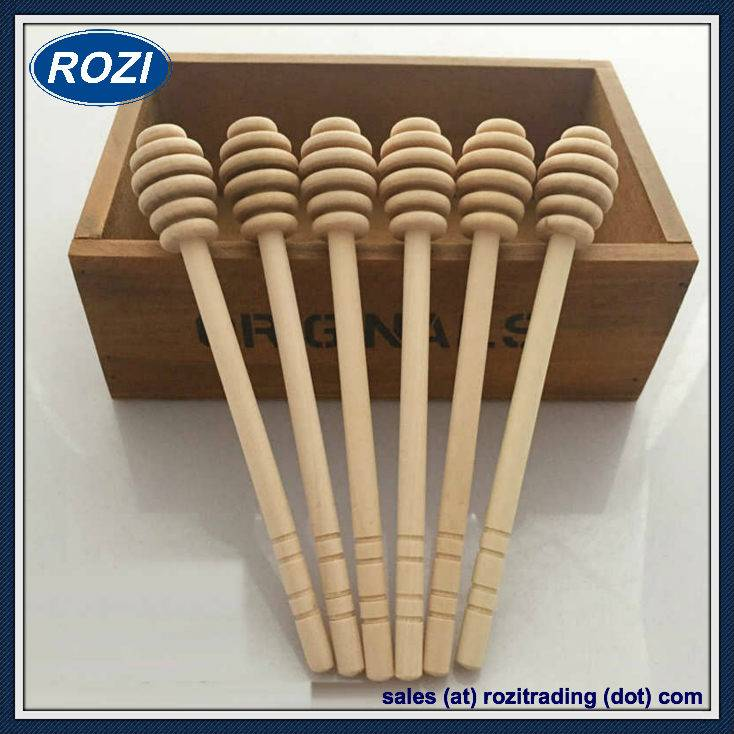 16cm Size New Beech Wood Honey Dripper Dipper Drizzler Honney Pot Spoon