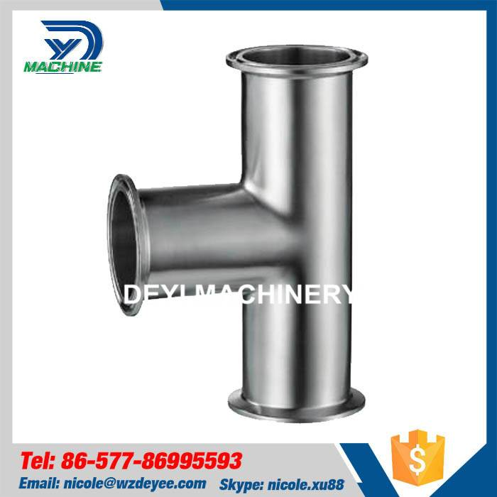 Sanitary Stainless Steel Tri Clamped Equal Tee
