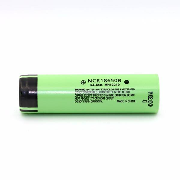 Original 3.7 v flat top ncr18650b li-ion 3400mah in rechargeable batteries