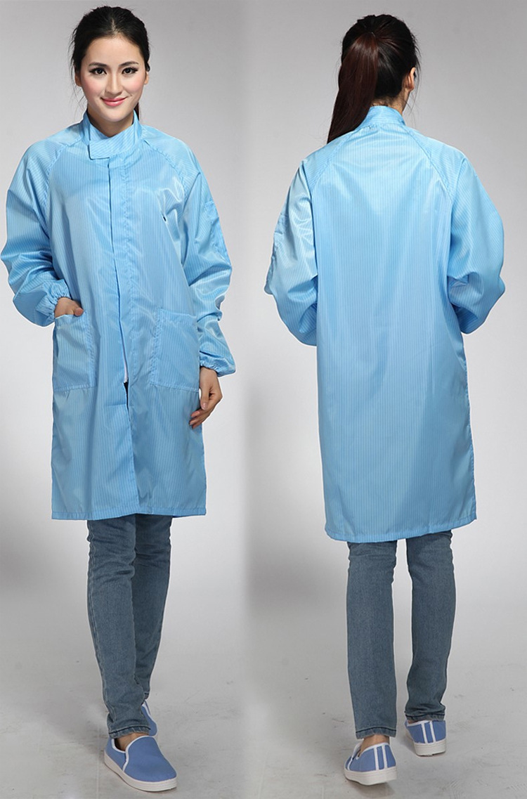 Stand Collar Cleanroom ESD Smock Antistatic Smock Cleaning Room overcoat