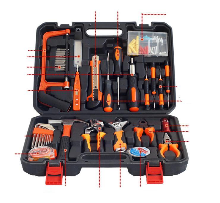Hot Sale Household Tool Kit High Quality 100Pcs Hand Tool Set Portable Mini Household Hand Ware Tool
