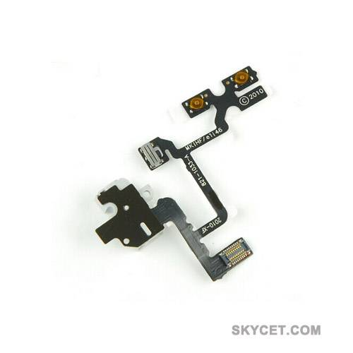 Audio Jack Flex Cable Replacement Parts For iPhone4-White-Grade A