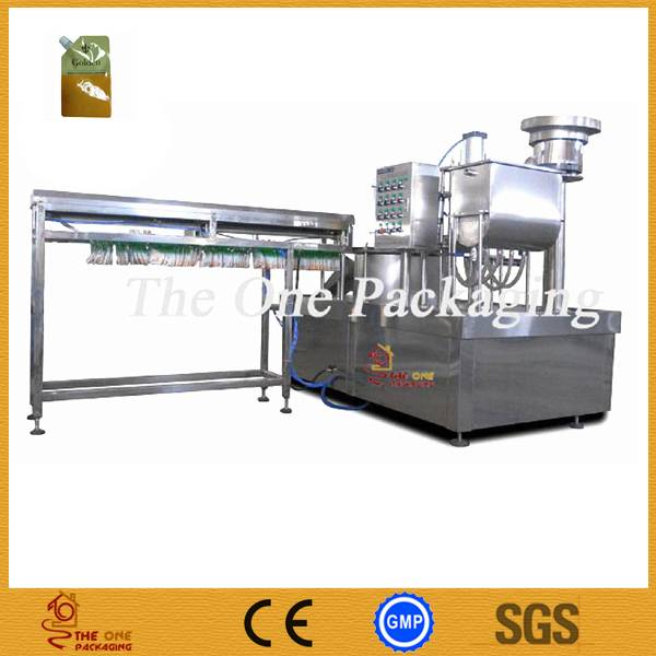 Standing Pouch Filling and Capping Machine, Stand-up Bag Packing Machine