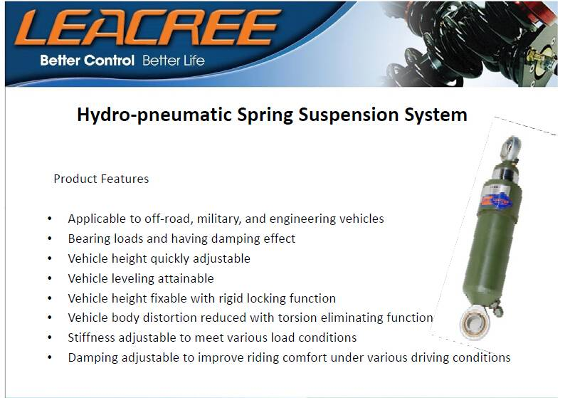 Hydro-peneumatic spring suspension system