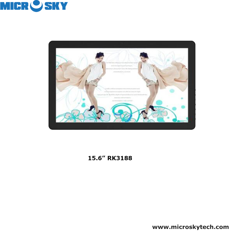 15.6 inch digital signage with touch screen LCD