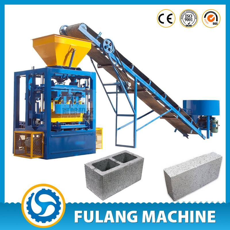 QTF4-24 high quality Germany design simple prodcution line concrete fly ash brick making machines fo