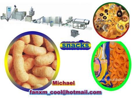 corn snack food making machines in China