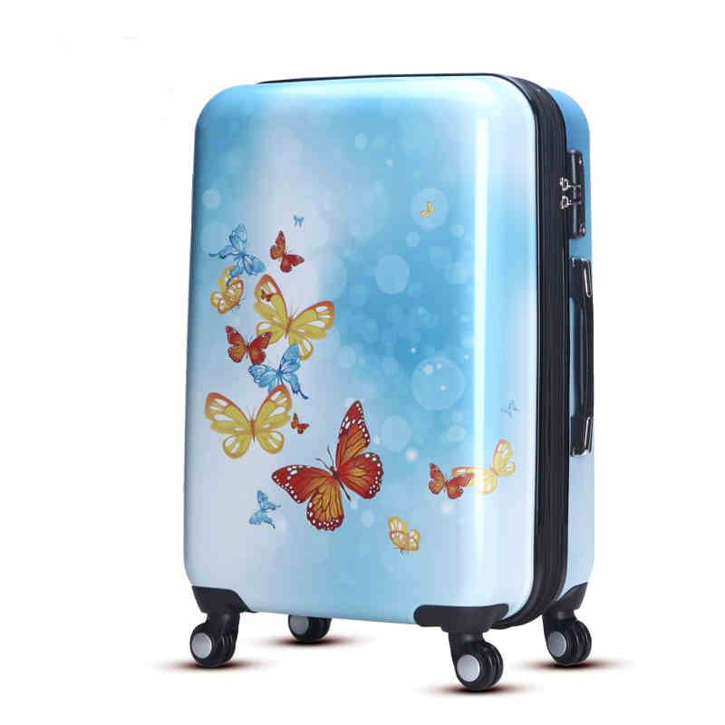 Travel trolley luggage set with light weight material