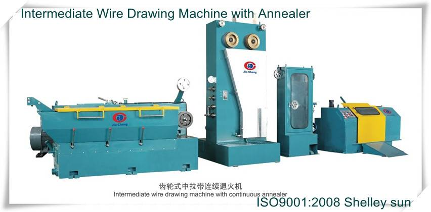 Intermediate Wire Drawing Machine with Dual-spool Take-up