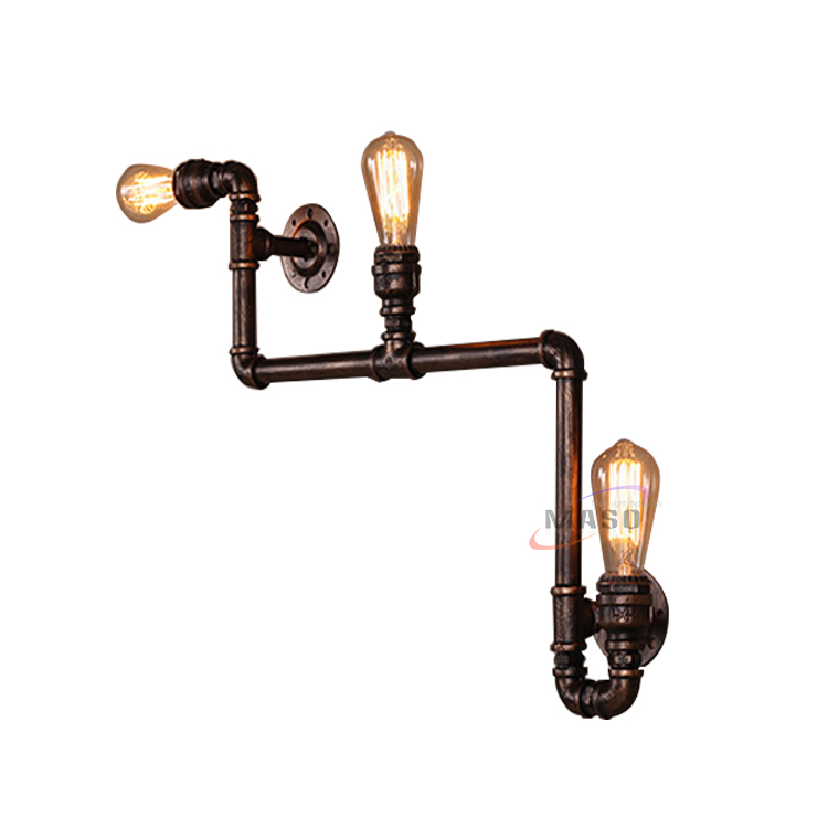 Industrial Lighting Iron Water Pipe Sconce Wall Light