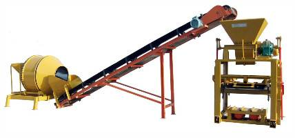QTJ4-40A Block Machine with Conveyor and Mixer