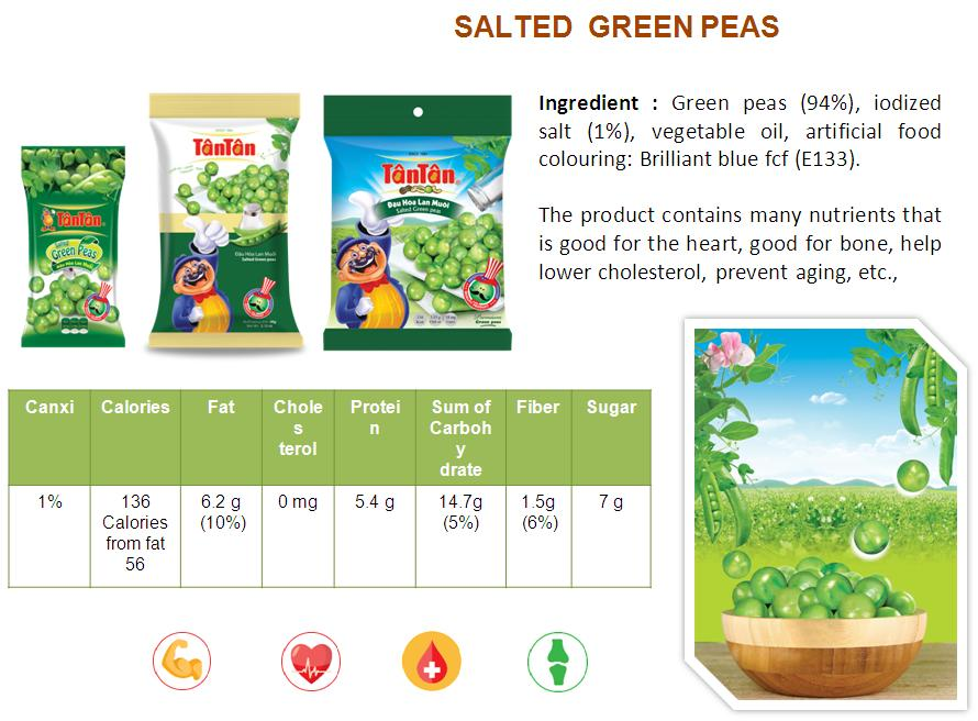 Crispy GREEN PEAS Wasabi snack coated covered wrapped (Tan Tan brand Vietnam, Jolie 84983587558)