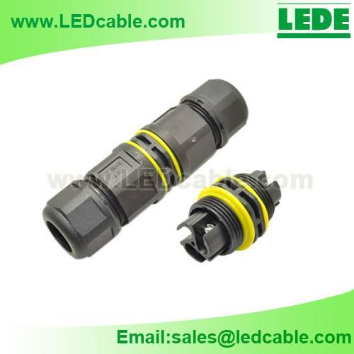 IP68 Waterproof Cable Connector, Screw Type, No Soldering