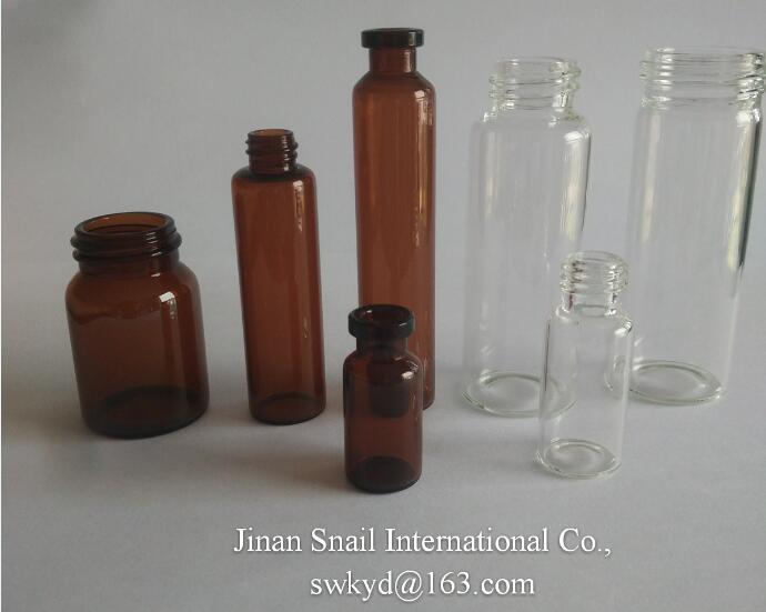 screwed glass bottles