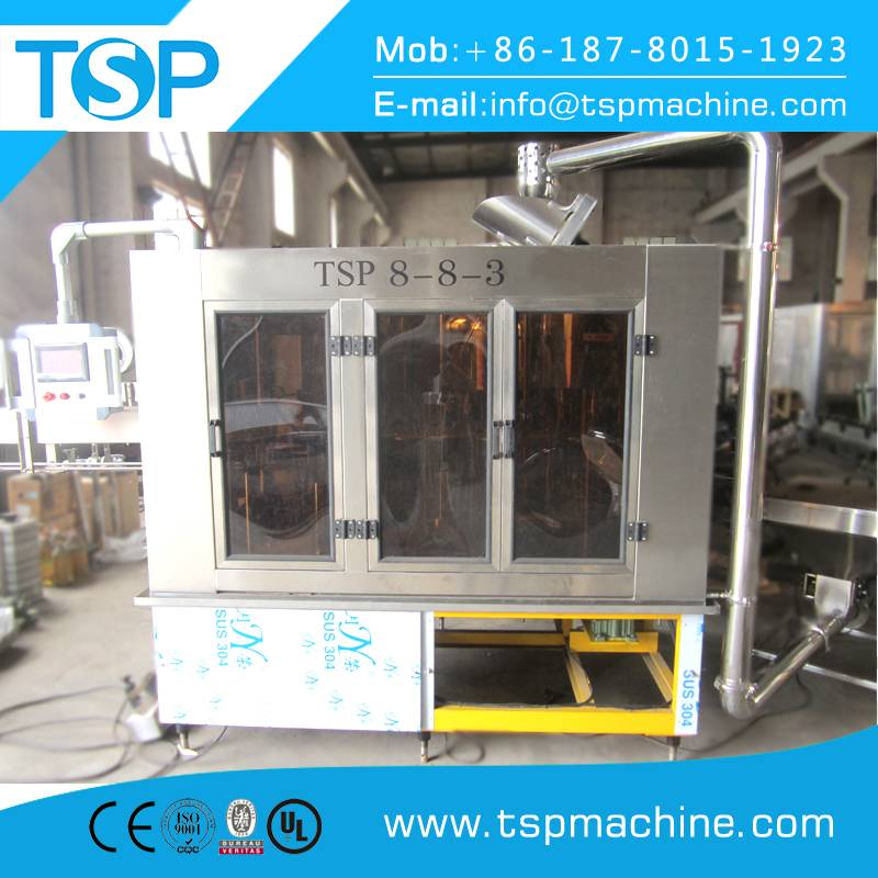 High Speed Automatic 3in1 Pet Bottle Water Washing Filling Capping Machine