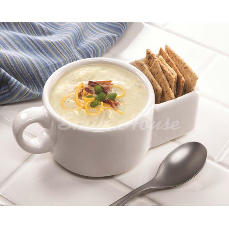 White Ceramic cookies mug with the handle