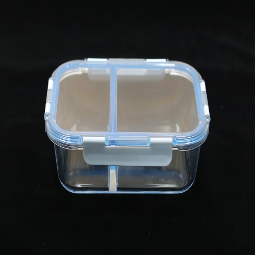 Clear borosilicate glass airtight dry food container with lids