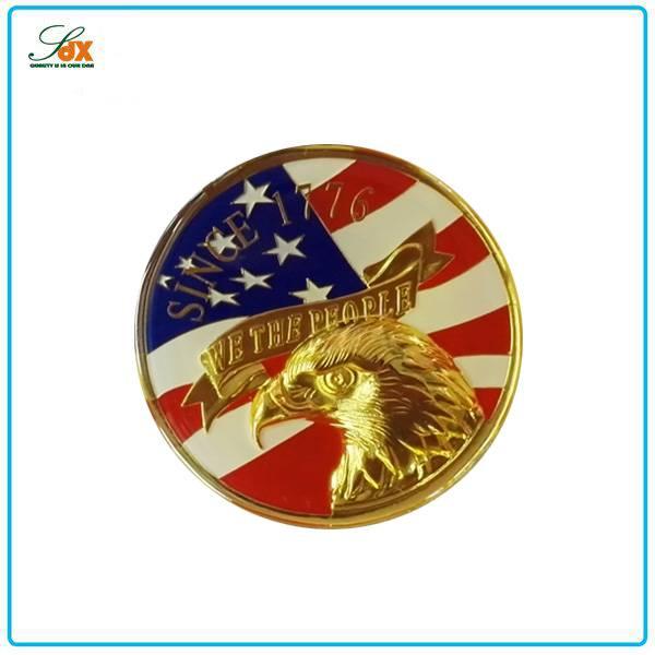 Custom 3d Zinc Alloy Embossed Souvenir Coins / Cheap 3d Military Coins