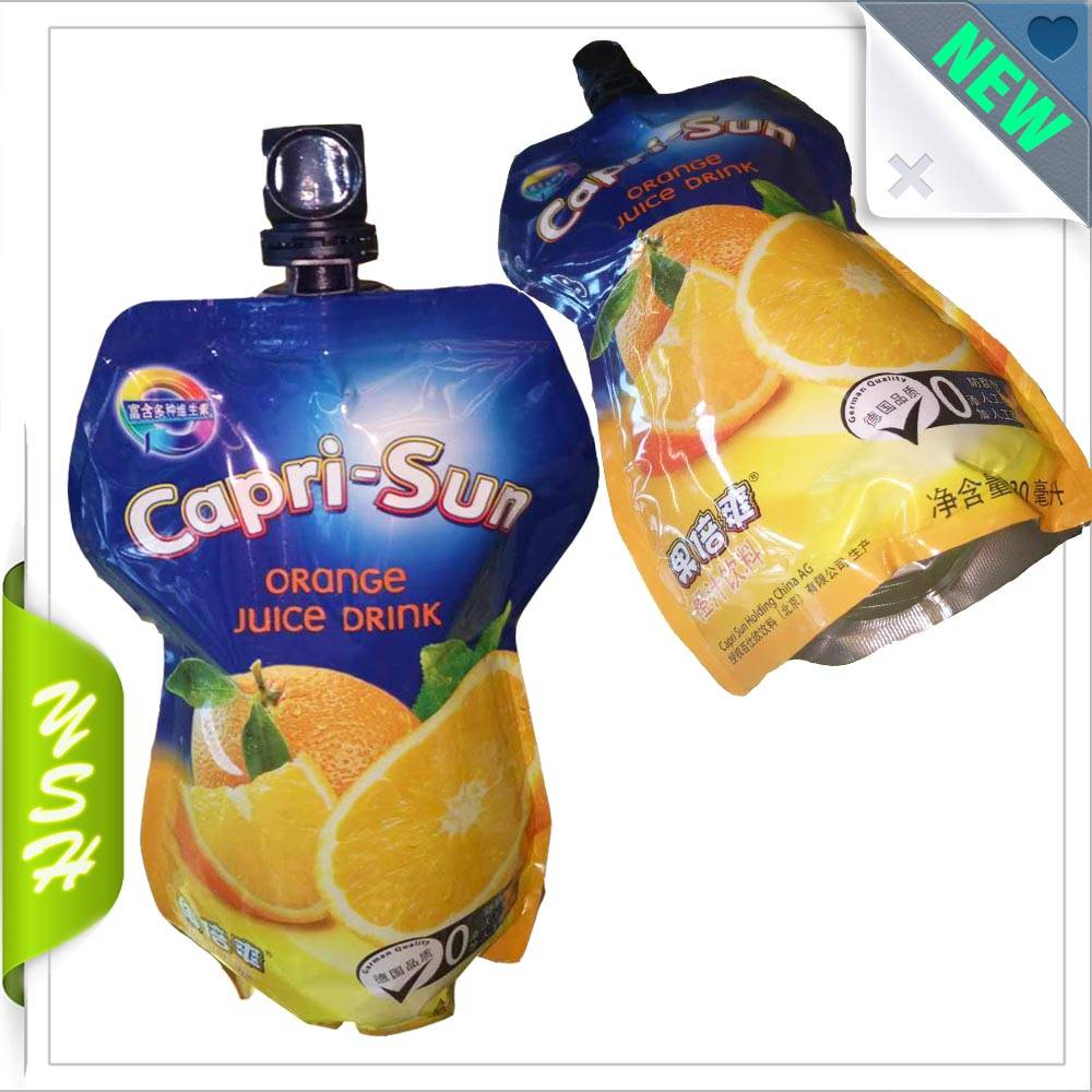 Drinking spout pouch laminated plastic bag