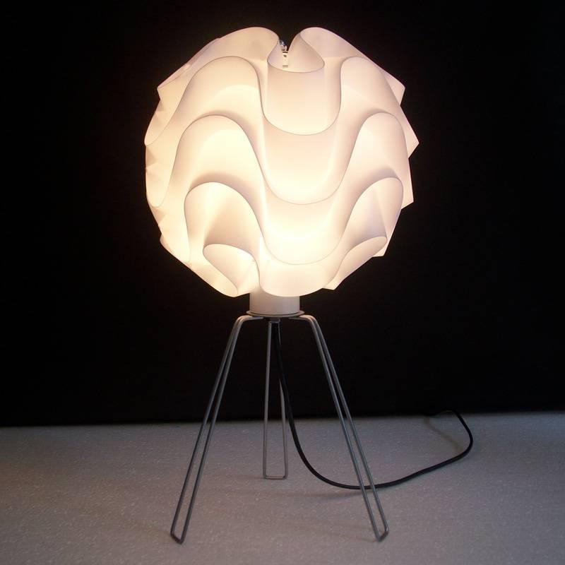 new modern pp plastic table lamp hotel decorative desk lighting